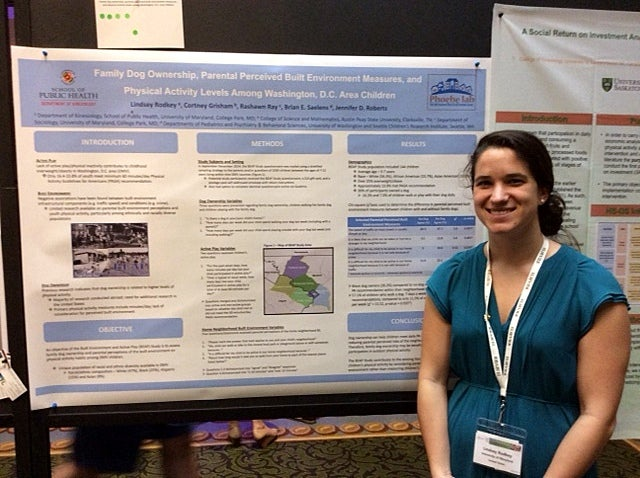 "Lindsey presented BEAP Study research at the Active Living Research Conference entitiled ""Family Dog Ownership, Parental Perceived Built Environmet Measures, and Physical Activity Levels among Washington, DC Area Children"" in Clearwater, FL, February 26-March 1, 2017."