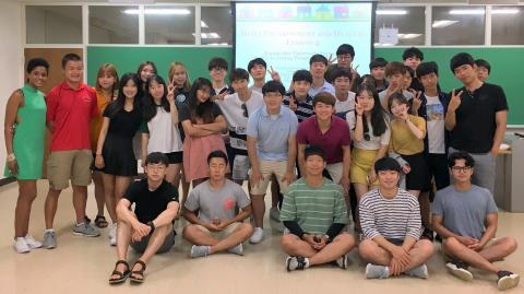 Dr. Roberts spent a week teaching the students from the Kyung Hee University Summer Active Learning Program for Excellence.