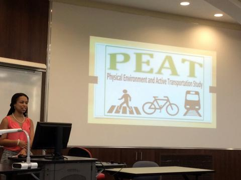 Cortney presenting PEAT Study research at the UM Star Oral Presentation, University of Maryland College Park, August 9, 2016.