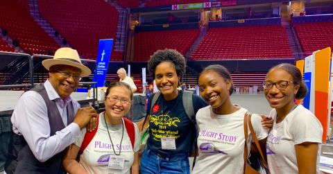 Shoutout to PHOEBE Lab members, Shuling Wu, Daunece Cox, Faith Toure, Sliyah Sharif and Murielle Tembunde (not pictured), who volunteered tirelessly at the Mission of Mercy Dental Clinic and Health Equity Festival, September 13-14, 2019.