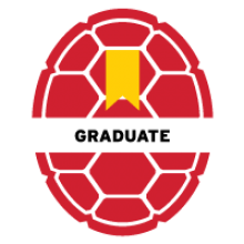 UMD red Opaque Shell Icon titled Graduate