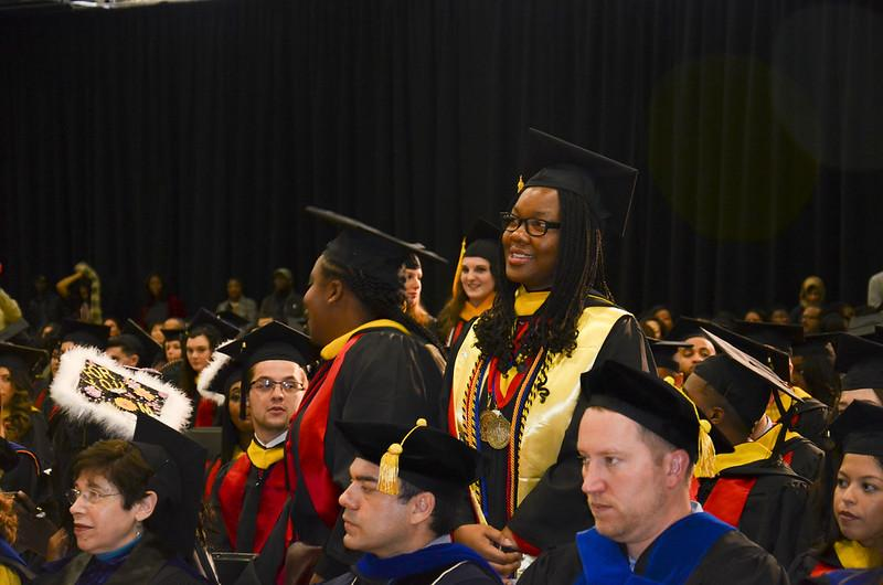 PHSC student at commencement ceremony